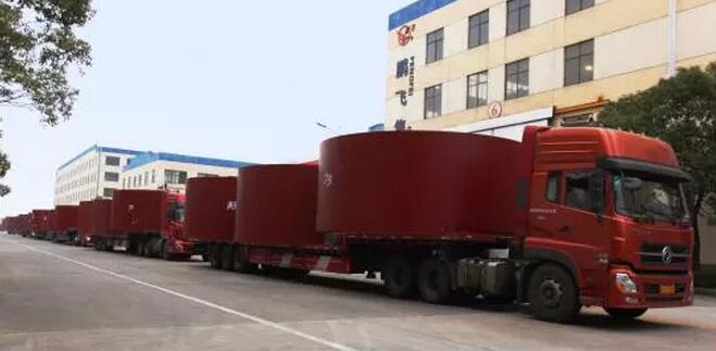 出口埃及6台Φ5.0X74米回转窑发货